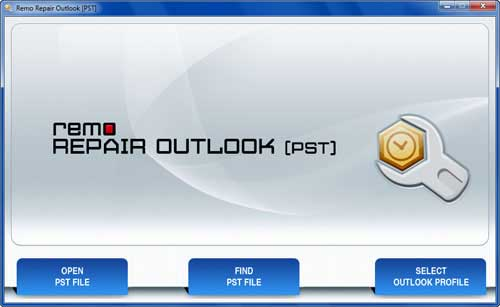 Repair Outlook Mailbox - Main  Screen