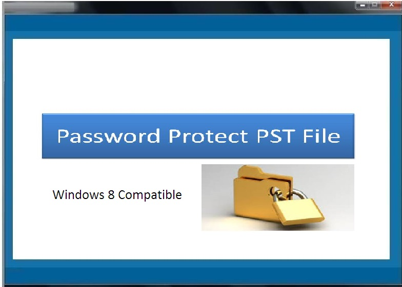 Tool to lock password protect PST file